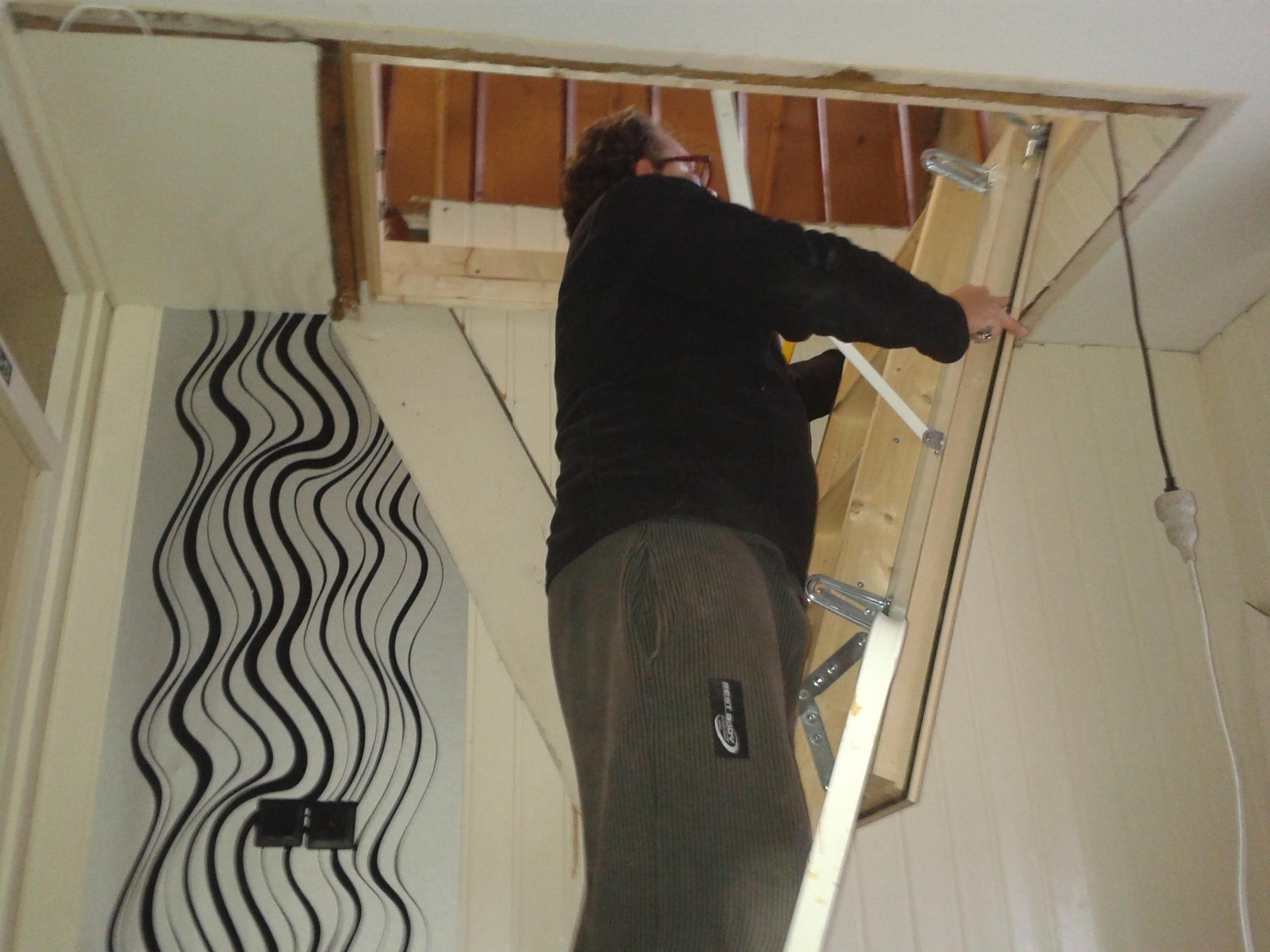 Dachbodentreppe Einbauen Um Platz Zu Gewinnen