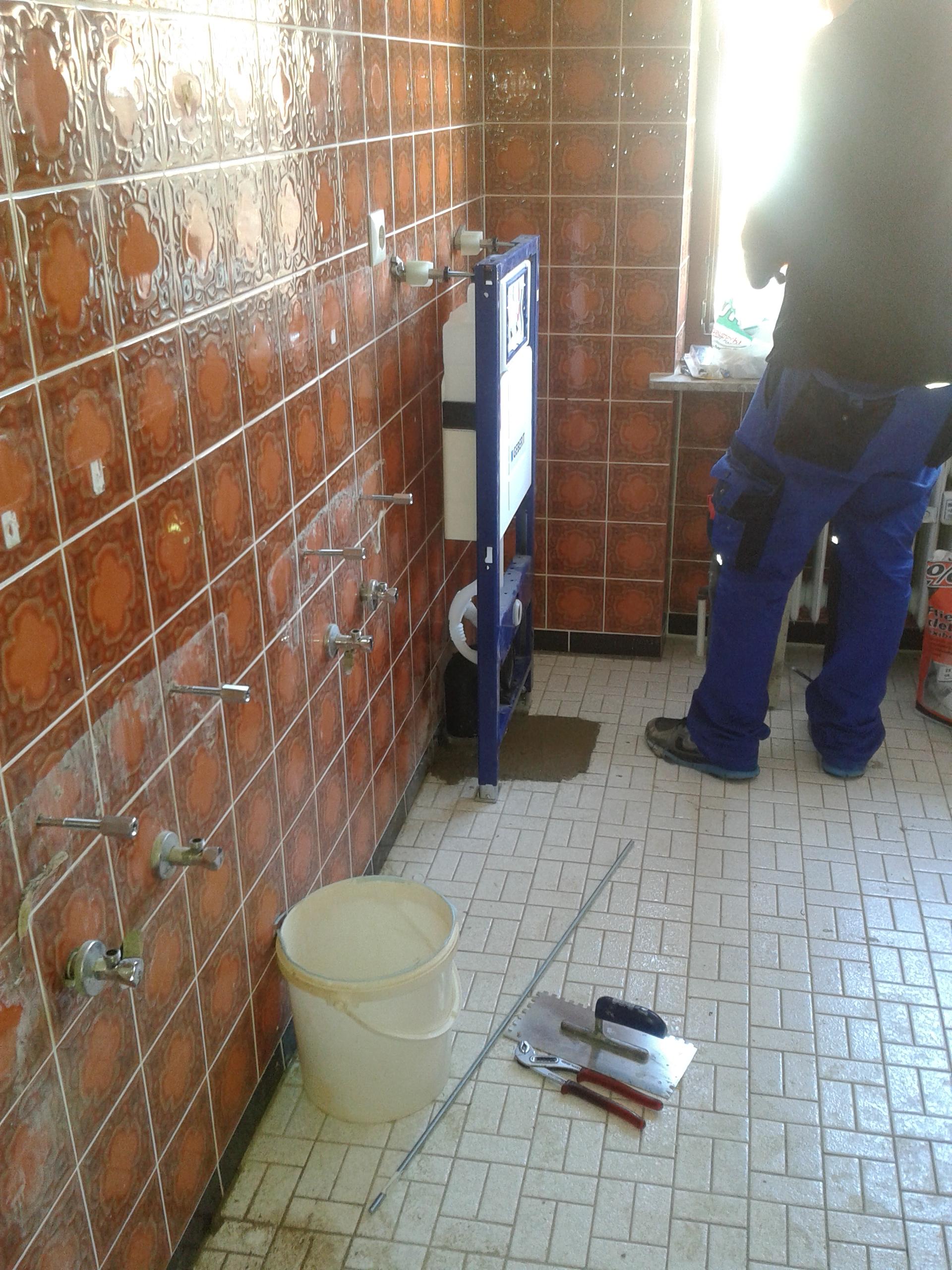 Sehr Neues Badezimmer | Vorwandelement für Hänge-WC einbauen WX44
